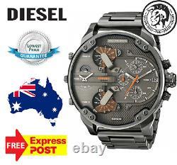 Diesel Authentique Dz7315 Mr Daddy 2.0 Tous Gunmetal Nouveaux Hommes Montre