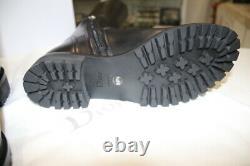 Dior En Cuir Noir Sur-la-bottes Knee-taille 39,5-nouvel W Boîte Et Authentique