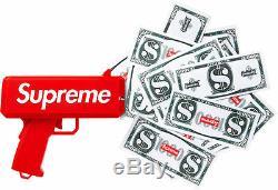 Ds New Supreme Cannon Billets Gun Argent Cashcannon Es17 Box Logo 100% Authentique