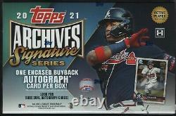 En Stock 2021 Topps Archives Signature Series Baseball Factory Sealed Hobby Box
