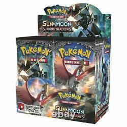 Ensemble D'ombres Brûlantes Authentiques Sm Booster Booster Seled (36 Paquets De Cartes Pokemon)
