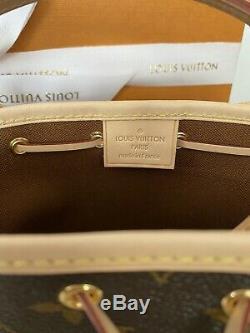 Fabriqué En France Rare Neuf Louis Vuitton Nano Noe 100% Authentique