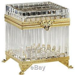 Fabulous Faberge Gold Crystal & 24k Boîte Mulifunctional, Authentique