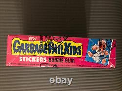Garbage Pail Kids 1985 Série 1 Box Bbce Enveloppé Authentifié W Poster Gpk 1er
