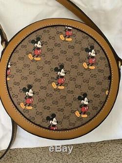 Gucci X Disney Mickey Mouse Ronde Épaule Sac Boîte Sac À Poussière 100% Authentique