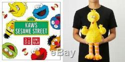 Kaws X Uniqlo Sesame Street Limitee Article Complet Boîte & Spécial 100% Authentique