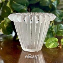 Lalique Art Déco Royat Vase Nouveau Dans La Boîte Signée Et Garanti Authentique Superbe