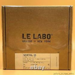 Le Labo Santal 33 Eau De Parfum 3,4 Fl. Oz. 100 ML Nouvelle Boîte Scellée Spray Authentique