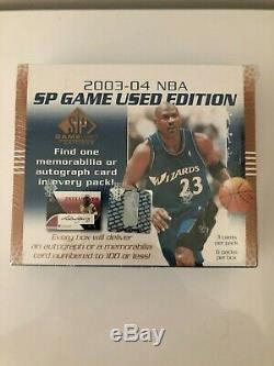Lebron James Rookie Jeu 2003-04 Upper Deck Sp Hobby Box Utilisé Scellé En Usine