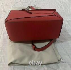 Loewe Small Puzzle Bag Rouge, Authentifié, Nouveau Avec Dustbag + Facture