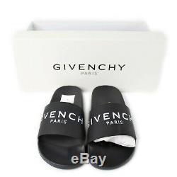 Logo Authentique Givenchy En Caoutchouc Sandal Diapositive Noire Nouveau Dans La Boîte Taille 37 295 $ Pdsf