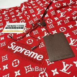 Louis Vuitton Suprême Box Logo Hoodie Authentique X-grand Monogramme LV XL 1a3fbu