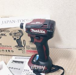 Makita Td172d Impact Driver Td 172 Dz Ar Authentic Red 18v Only Body And Box Nouveau