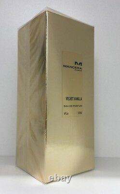 Mancera Velvet Vanilla Unisexe 120 Ml, 4 Fl. Oz, Edp, 100% Authentique Nouveau Dans La Boîte