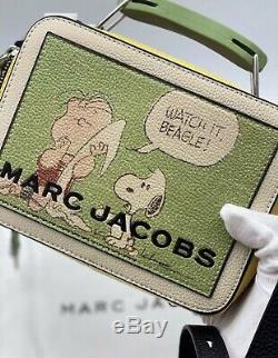 Marc Jacobs X Peanuts Box Bag, Limited Edition, Authentique, Avec De Nouvelles Balises