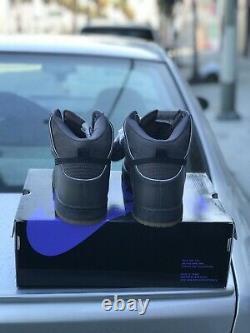 Mf Doom Nike Sb Dunk Hi Deadstock Purple Box 100% Authentique Sz 12