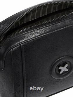 Mimco Black Bag Fantasy Leather Cross Body Hip Clutch Bnwt Authentic Rrp$199 Nouveau