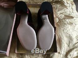 Miu Miu Chaussures 39 Nouvelles Perles En Boîte De Pointe Authentique