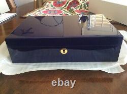 Montblanc Box Blue Piano Laque Jewelry Box Authentic (tout Nouveau Défaut)