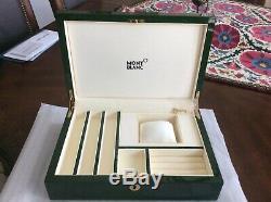 Montblanc Box Laque Piano Vert Boîte À Bijoux Authentique (nouvelle Marque Fait Défection)