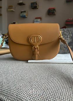 Moyen Dior Bobby Bag Dark Tan Box Calfskin Rp $ 4600 Authentic Last Collection