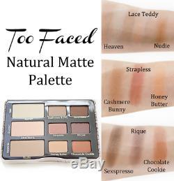 Natural Matte Too Faced Collection Palette De Fard À Paupières Neutre Authentique No Box