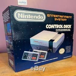 Nes Nintendo System Control Plate-forme D'être Complète Dans La Boîte Originale Authentique 1988
