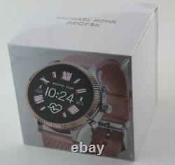New Authentic Michael Kors Gen 5 Smartwatch Lexington Pink Women's Mkt5112 Montre