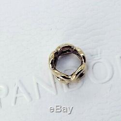 New Round Authentique D'or 14k Pandora Lien Donut Spacer Charm 750222 Avec La Boîte