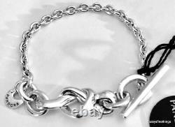 Newithtags Authentique Bracelet Pandora Argent Noué Heart #598100 Hinge Box