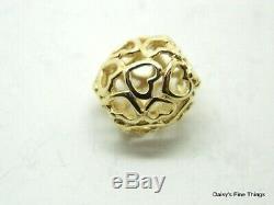 Newithtags Authentique Pandora Charm 14k Votre Coeur Ouvert # 750964 Hinged Box