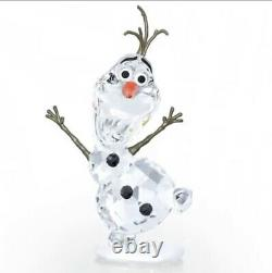 Nib Authentic Swarovski Disney Frozen Olaf Figurine En Cristal Collectible #5135880