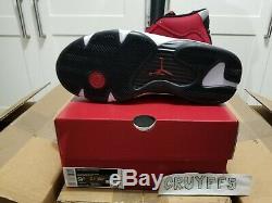 Nike Air Jordan 14 Retro Gym Rouge Toro Taille 9.5 Marque Neuf Dans La Boîte 100% Authentique