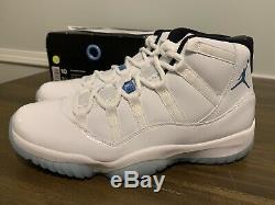 Nike Air Jordan Retro 11 Blue Legend Taille 10 Ds Nouveau 100% Authentique Avec Boîte