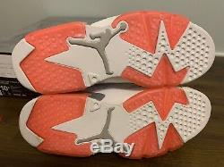 Nike Air Jordan Retro 6 Low Coral Mens Taille 9 Ds Nouveau 100% Authentique Avec Boîte