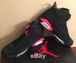 Nike Air Jordan Retro 6 VI Noir Infrarouge Sz 11 Neuf Dans La Boîte 100% Authentique