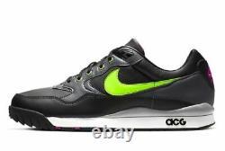 Nike Air Wildwood Acg En Cuir Noir 100% Authentique Hommes Formateurs Boîte De Rechange