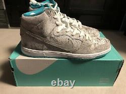 Nike Sb Dunk High Flamingo 313171-117 Taille 13 Nouveau Dans Box Deadstock Authentic