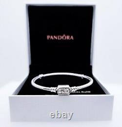 Nouveau 100% Authentique Pandora 925 Silver Moments Star Wars Charm Bracelet 599254c00