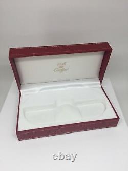 Nouveau Authentic Cartier Case Lunettes De Vue Red Box Lunettes De Soleil Santos De Cartier Box