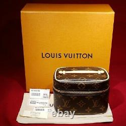 Nouveau Authentic Louis Vuitton Nice Nano Monogram Canvas Cosmétique Sac M44936 2020