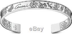 Nouveau Authentique Boîte Gucci Flora Argent Bracelet Taille 18 645 $