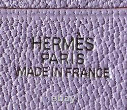 Nouveau Authentique Hermes Nouveau Dans La Boîte Cuir Lavande Couverture Agenda En Cuir De Veau Epsom