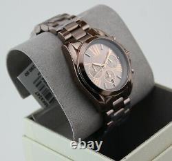 Nouveau Authentique Michael Kors Bradshaw Brown Sable Chronographe Femme Mk6247 Montre