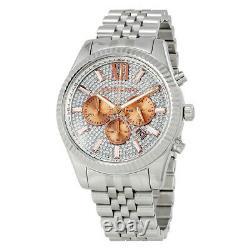 Nouveau Authentique Michael Kors Mk8515 Lexington Crystal Pave Silver Ladies Watch Uk