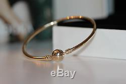 Nouveau Authentique Pandora 550713 14k Bracelet Bracelet Coffret 21cm Lg Dernier