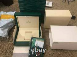 Nouveau Authentique Rolex Datejust Watch Box Green Wood Case Submariner Oyster Authentic
