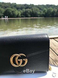 Nouveau Avec La Boîte Noire Authentique Gucci Gg Marmont Cellarius Wallet Sac Bandoulière