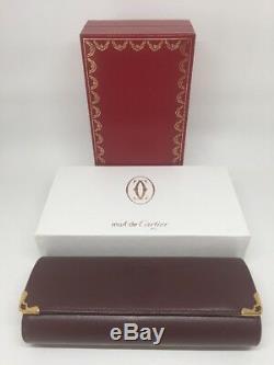 Nouveau Cas Authentique Cartier Rouge En Cuir Box Lunettes Dur Box Case Complete Set