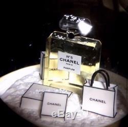Nouveau Chanel Snow Globe No. 5 Parfum + Box 20yr USA Vendeur Authentique De Confiance